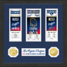 Highland Mint Los Angeles Dodgers World Series Champions 12 x 12 Framed Ticket Collection