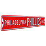 Philadelphia Phillies Red Authentic Street Signs 6 x 36 Steel Team Street Sign