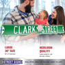 Clark Street Authentic Street Signs 6 x 36 Steel Street Sign