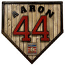Hank Aaron Hall of Fame Vintage Distressed Wood 17 Inch Legacy Home Plate Ltd Ed of 250