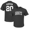 Men's Teambrown Josh Gibson Homestead Grays Black Name & Number T-Shirt