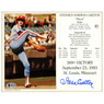 Steve Carlton Autographed 1993 300th Win 8x10 Photocarrd (Beckett)