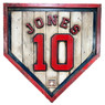 Chipper Jones Hall of Fame Vintage Distressed Wood 20 Inch Heritage Natural Home Plate