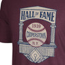 Men's Mitchell & Ness 1939 Hall of Fame, Cooperstown Logo Heather Maroon T-Shirt