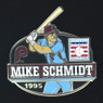 Mike Schmidt Hall of Fame Exclusive 3 Piece Pin Set with Plaque Bust Ltd Ed of 1,995
