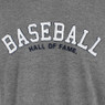 Men's '47 Brand Baseball Hall of Fame Gray Fieldhouse T-Shirt with Left Sleeve Patch