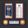 Highland Mint Houston Astros Framed World Series Replica Ticket Collection