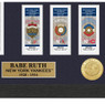 Highland Mint Babe Ruth New York Yankees Framed 12 x 15 World Series Ticket Collection