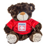 "Baseball Hall of Fame 13"" Plush Brown Bear with Red HOF T-Shirt"