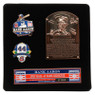 Hank Aaron Hall of Fame Exclusive 3 Piece Pin Set with Plaque Bust Ltd Ed of 1,982
