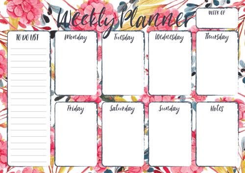 Botanica - Weekly Planner