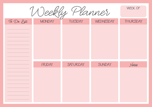 Blush - Weekly Planner