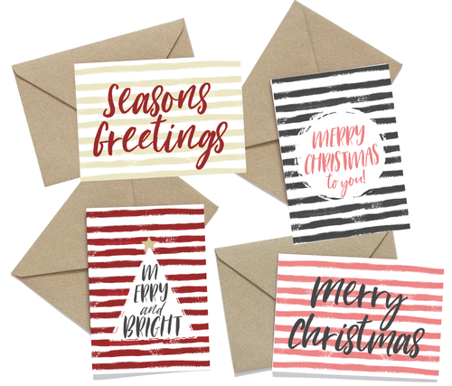 Christmas Stripes Cards