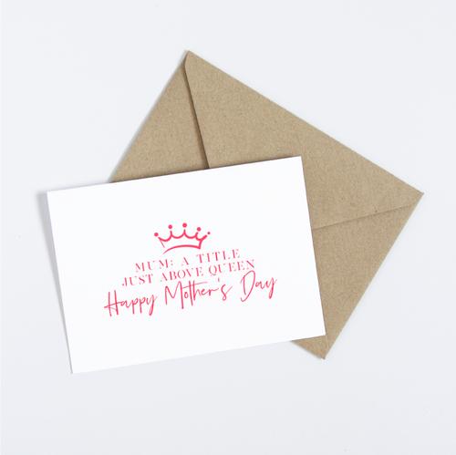 Mother's Day Queen