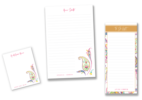 Paisley Pink - Stationery Set