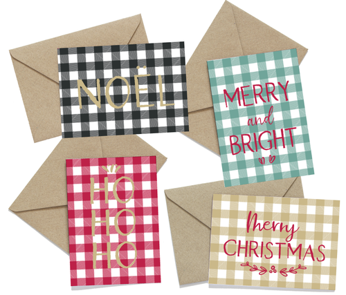 Gingham Christmas Cards