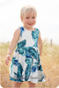 Sleeveless, knee-length twirl skirt