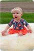 3/4 Sleeves, scoop back, knee-length twirl skirt