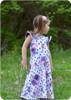 Sleeveless w/ flutters, a-line maxi skirt