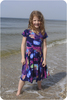Short sleeves, standard back, peplum twirl skirt