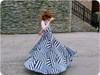 Sleeveless, standard back, maxi length twirl skirt