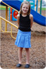 Girl's uniform skirt sewing pattern