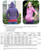 Hampton Hoodie Maternity Size Chart & Materials