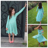 Madeline Crossover Dress and Top Sewing Pattern: long sleeves with fish tail skirt