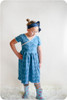 Madeline Crossover Dress and Top Sewing Pattern: short sleeves with gathered skirt
