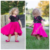 Madeline Crossover Dress and Top Sewing Pattern: 3/4 sleeves with fish tail skirt