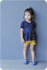 Madeline Crossover Dress and Top Sewing Pattern: short sleeves with gathered peplum