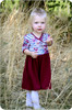 Madeline Crossover Dress and Top Sewing Pattern: 3/4 sleeves with gathered skirt