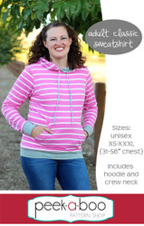Free adult sweatshirt sewing pattern