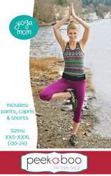 Yoga Mom Pants, Capris, and Shorts Sewing Pattern