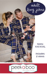 Adult long johns sewing pattern