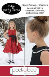 Ruby Girls Party Dress Pattern