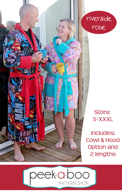 Adult robe sewing pattern