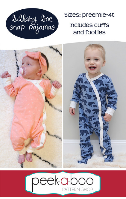 Lullaby Line Snap Pajamas sewing pattern