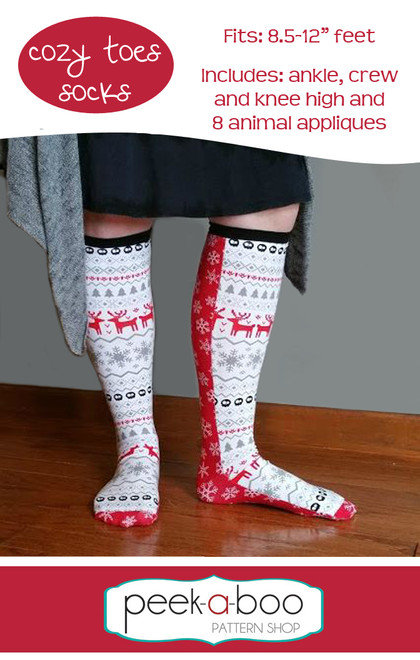 0ec51eda01a Cozy Toes Socks - Peek-a-Boo Pattern Shop