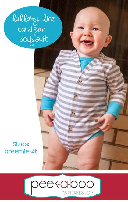 Lullaby Line Cardigan Bodysuit pattern