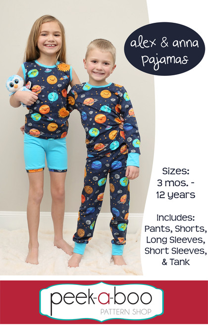 Alex & Anna Pajamas sewing pattern