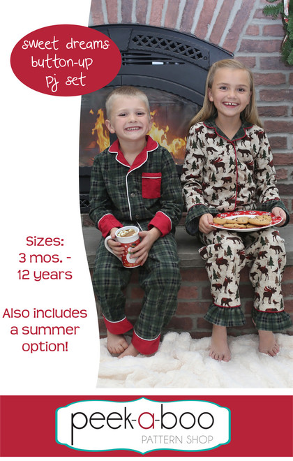 Sweet Dreams Button-Up PJs sewing pattern