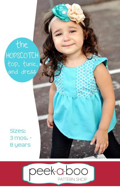 Hopscotch Top, Tunic and Dress Pattern