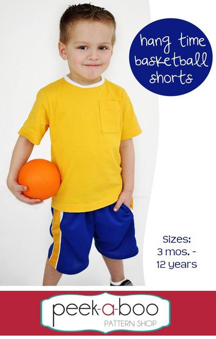 Hang Time Basketball Shorts PDF Sewing Pattern