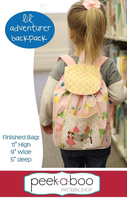 Lil' Adventurer Backpack PDF Sewing Pattern