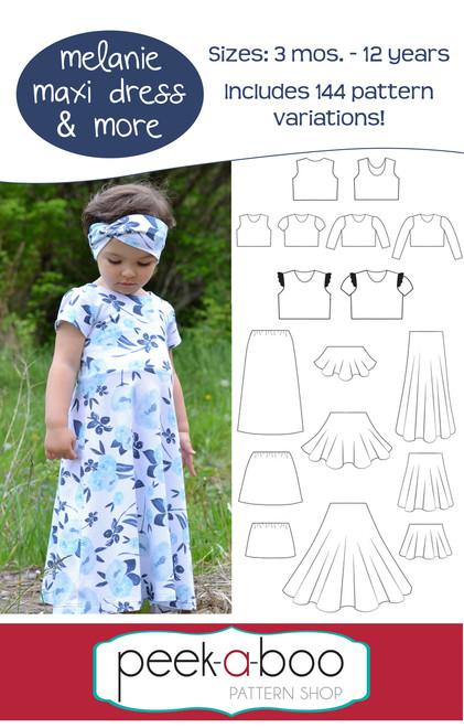 Melanie Maxi Dress Pattern for Girls