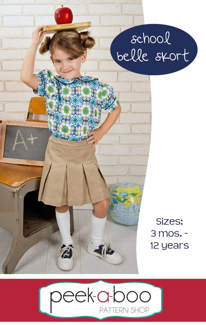 School Belle Skort PDF Sewing Pattern