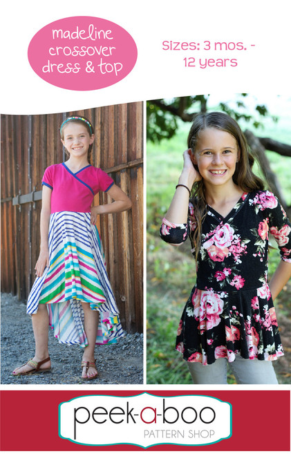 Madeline Crossover Dress and top sewing pattern