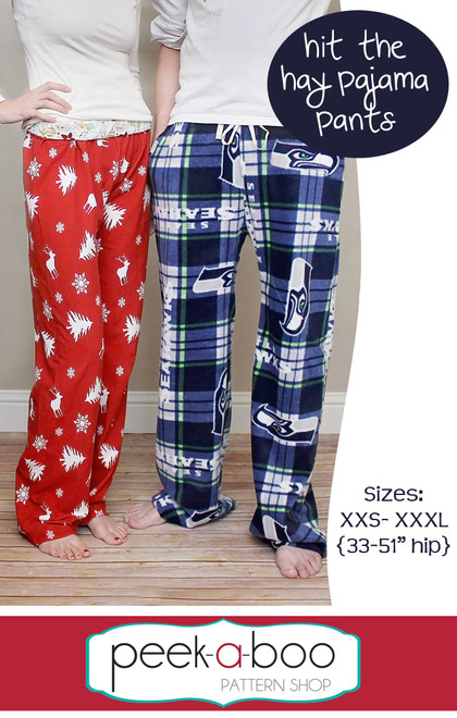 photo about Printable Pajama Pants Pattern known as Strike the Hay Pajama Trousers