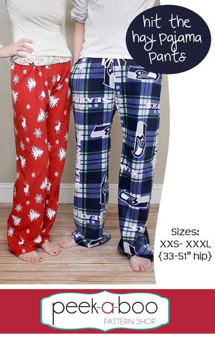 image relating to Printable Pajama Pants Pattern identified as Strike the Hay Pajama Trousers